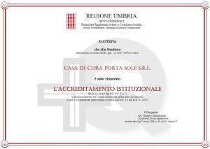 Accreditamento Regione Umbria